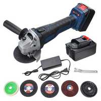 110V-240V 29800mah Electric Brushless Angle Grinder 20000r/min With 2pcs Li-ion Batteries