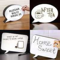 DIY LED Speech Bubble Light Up Box Handwriting Message Memos Letter Sign Board Night Light