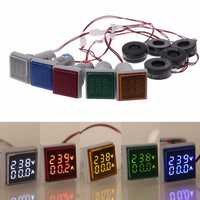 AC 60-500V 0-100A D18 Square LED Digital Dual Display Voltmeter Ammeter Voltage Gauge Current Meter
