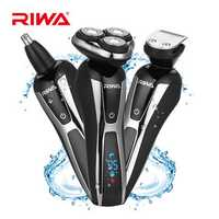 RIWA RA-5505 3 in 1 LCD Display Washable Electric Shaver 3D