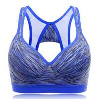 Mixed Yarn Shockproof Wireless Comfort Moving Sports Bra