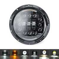 7 inch LED Headlights Turn Signal DRL For Harley Lada Niva Jeep Wrangler