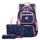 Discount pas cher 3 Pcs School Bag Shoulder Backpack Nylon Cross body Bags Camping Travel Handbag Pen Case
