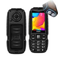 KUH T3 2.4'' 4000mAh Dual Flashlight bluetooth Power Bank Dual Sim Card Rugged Feature Phone