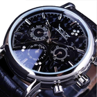 Discount pas cher JARAGAR F120545 Fashion Automatic Mechanical Watch Multifunction Leather Strap Men Wrist Watch