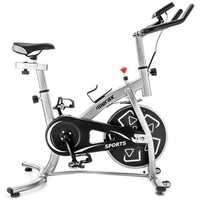 Merax S280 Indoor Cycling Bike Belt Drive Outdoor Exercise Bike with 22lbs Flywheel-Sliver Led Light