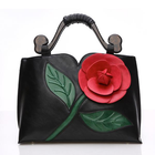 Meilleur prix Women National Style Flower Decoration PU Leather Handbag Crossbody Bag