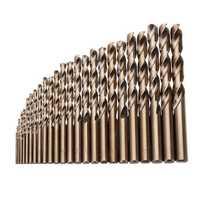 Drillpro 25pcs 1-13mm HSS M35 Cobalt Twist Drill Bit Set for Metal Wood Drilling