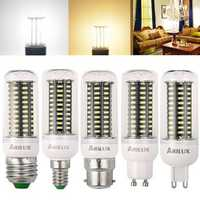 ARILUX® AC220V E27 E14 B22 GU10 G9 3W 4W 4.5W 5W SMD4014 LED Corn Light Bulb for Home Decor