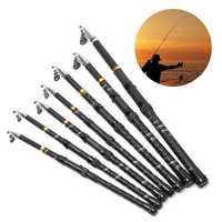 Bobing 1.8-4.5M Glass Fiber Stainless Steel Telescopic Fishing Rod Super Hard Salt Water Fishing Pole