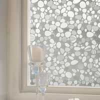 KCASA Z021 45cmX200cm Modern Flower Pattern Glass Stickers Bathroom Balcony Sliding Door Frosted Glass 3D Stickers