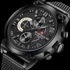 Meilleurs prix NAVIFORCE 9068 Full Steel Strap Waterproof Quartz Watches