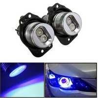 12V LED Headlight Angel Eyes Halo Rings Bulb Lamp Blue Light for BWM E90 E91