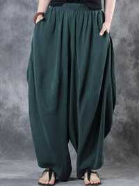 Women High Elastic Waist Loose Harem Baggy Pant