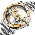 Les plus populaires IK COLOURING 98399 Business Style Men Wrist Watch Stainless Steel Strap Automatic Mechanical Watches