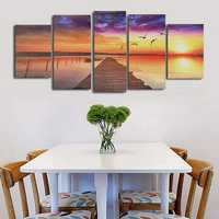 Frameless Modern Canvas Picture Wood Path Oil Painting Home Wall Decoration