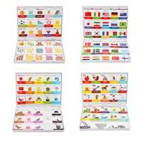 JIQIDAO Magnetic Board Game Toy Alphabet Color Figures National Flag Learning Toy Fridge from xiaomi youpin