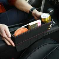 PU Leather Car Seat Crevice Cup Holder Storage Seat Gap Filler Multifunctional Pocket Organizer