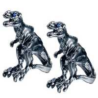Unisex Punk Alloy Tyrannosaurus Rex Blue Rhinestone Ear Stud