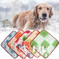 Electric Pet Mat 2 Mode Heating Blanket Warmer Heater Soft Velvet Fabric Pad Bed