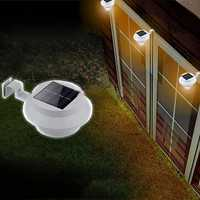 Solar Powered LED Fence Light Outdoor Garden Wall Lobby Pathway Lamp