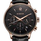 Offres Flash OCHSTIN GQ050A Fashion Leather Strap Men Quartz Watch Luxury Sub-dial Business Watch
