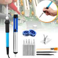 13Pcs 60W 110V/220V Electric Solder Iron Welding Tool Soldering Wire Iron Tips