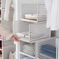 Multi-function Storage Box Drawer Type Wardrobe Layering Shelf Kitchen Organization Baskets
