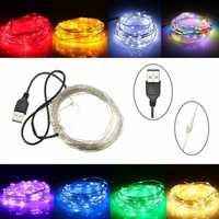 10M 100 LED USB Silver Wire Flexible String Fairy Light Christmas Wedding Party Decor