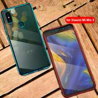 Bakeey Luxury Elac-plating Transparent Hard PC Protective Case Shockproof For Xiaomi Mi MIX 3