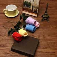 20x20cm Mircrofibre Rose Flower Water Absorbtion Towel Festival Valentine Birthday Wedding Gifts
