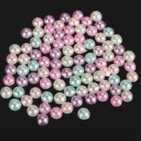 3000pcs 4mm Mixed Colors Half Round Flat Back Pearls Scrapbook Beads