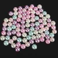 3000pcs 4mm Mixed Colors Half Round Flat Back Pearls Scrapbook Beads