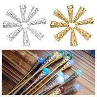 50Pcs Silver Gold Cone Petunia Care Caps DIY Jewelry
