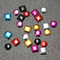1000Pcs Punk Metallic Nail Art Decoration Studs Multicolor