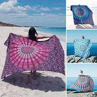 Honana WX-17 150x210cm Bohemian Style Polyester fiber Beach Shawl Mandala Rectangle Bed Sheet Tapestry