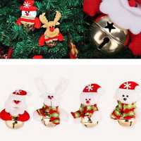 Christmas Santa Claus Snowman Bells Xmas Tree Hanging Decoration Pendant Decor