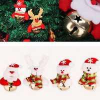 Christmas Santa Claus Snowman Bells Xmas Tree Hanging Decoration Pendant Decor