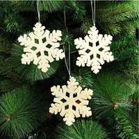 3Pcs Christmas Snowflake Hanging Pendant Christmas Tree Xmas Party Decoration Ornaments