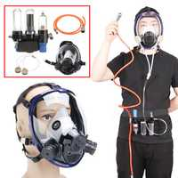 3 in 1 Function Supplied Air Fed System Respirator 6800 Full Face Clear Gas Mask