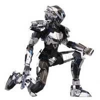 MU DIY Puzzle 3D Metal Robot Model Building 165*100*120mm Nano Core Bader For Kids Gift Toys