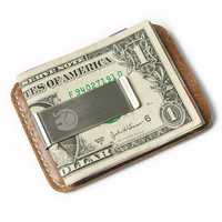 Leather Card Holder Credit Card Case Outdoor Camping Wallet Clip Business Travel ID Card Box