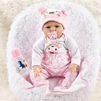 NPK DOLL 55cm Soft Silicone Doll Reborn Baby 22