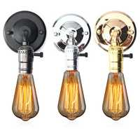E27 Antique Vintage Switch Type Wall Light Sconce Lamp Bulb Socket Holder Fixture