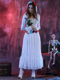 Halloween Corpse White Bride Lace Cosplay Costume