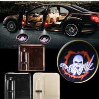 2Pcs Wireless Sensor Car Door Logo Lights LED Projector Shadow Red Vampire Courtesy Laser Kit