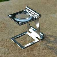 Stainless Steel 10X Folding Magnifier Portable Mini Magnifying Glass Lupa Loupe Watch Repair