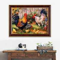 14x18 Inches 5D Diamond Painting Paper Garden Chicken Coop Cross Stitch Home Decor