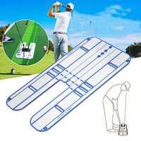 Golf Putting Trainer Sport Golf Putter Practice Tool Outdoor Home Swing Trainer Eye Line Aid