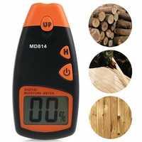 MD814 Digital Wood Moisture Portable Meter 4 Spare Sensor Pins with HD Digital LCD Display Testing Tool